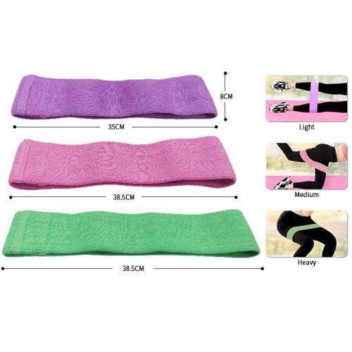 Wholesale Custom Logo Yoga Gym Exercise Booty Hip Fitness Fabric Elastic Resistance Band Set
