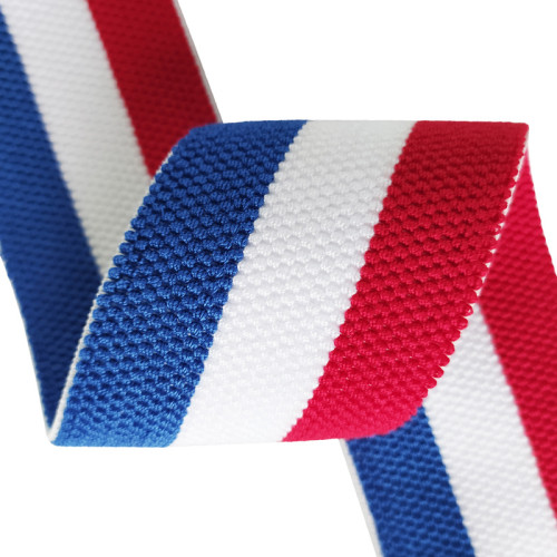 Fashion Soft 60mm Width Stripe Designed Webbing Strap Nylon Elastic Bands For Sewing