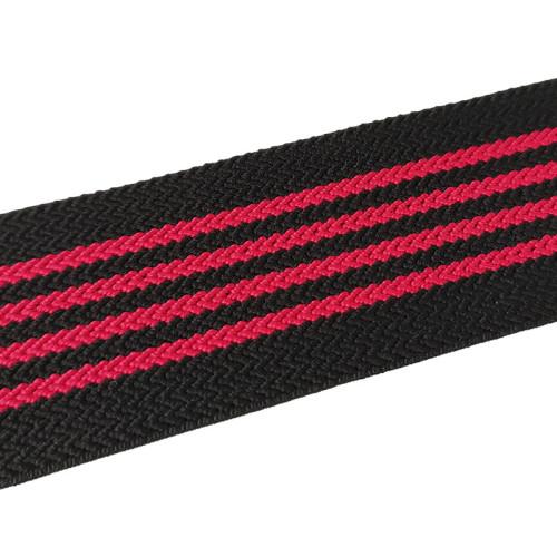 Multipurpose Nylon Soft Stripe Webbing Tape 40mm Width Wave Pattern Flat Elastic Band