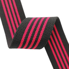 Multipurpose Nylon Soft Stripe Webbing Tape 40mm Width Wave Pattern Flat Elastic Band
