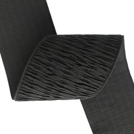 Wholesale Factory Custom Webbing Strap Special Texture 75mm Nylon Black Elastic Band