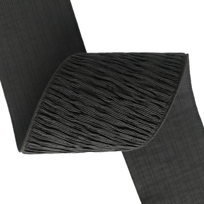 Wholesale Factory Custom Webbing Strap Special Texture 75mm Nylon Black Elastic Band
