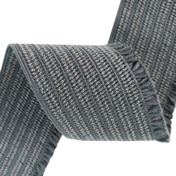 Wholesale Price New Design 60mm Width Webbing Strap Ruffled Elastic Band For Women's Clothing