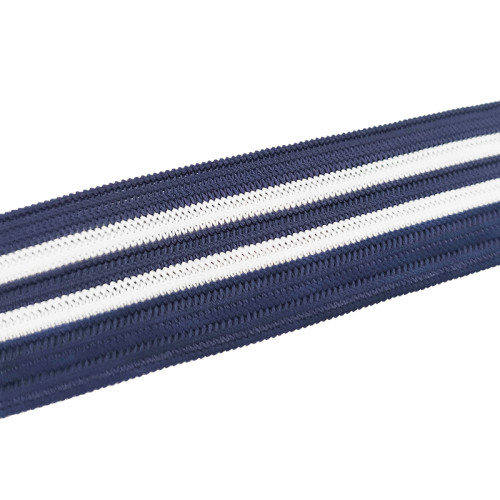 National Style Clothing Use 25mm Knitted Elastic Band Color With Shining Edge
