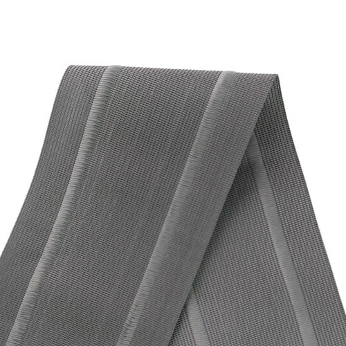 Cheap Nylon Gray Color 100mm Width Flat Fold Over Webbing For Garment Accessories