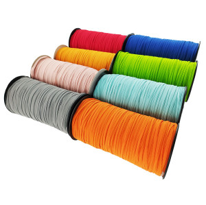 Wholesale Cheapest Colorful Flat 3mm Cord Elastic Rubber Rope For KN95 Mask Protective Product