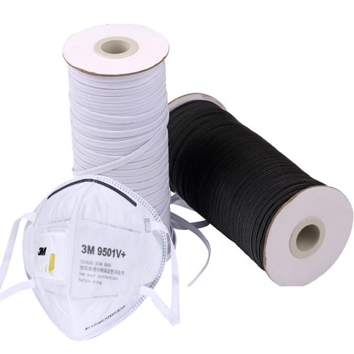 Wholesale Professional 6mm Flat Elastic Cord Rubber Rope For Home Textile Protective Suit Product