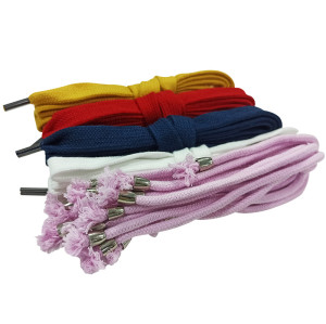 High Quality Colorful Paper Bag Rope Handle With Common Metal Tip For Sweater Clothing