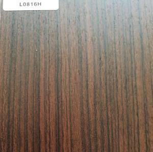 正鼎刨花板,L0816H-典雅胡桃木,贴面板-木材