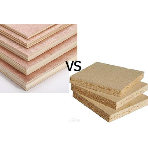 What are the differences between plywood and particleboard?