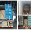 61 containers of particle board loading smoothly!