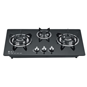 Three burner build in gas hobs