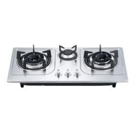 Glass top or S.S top three burner build in gas hobs