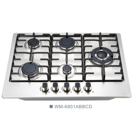 5 Burner high quality powerful flame gas hob for different cooking way WM-6801ABBCD