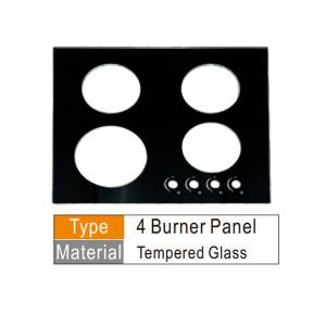 مكونات لوحة طباخ الغاز الزجاج المقسى أو الفولاذ المقاوم للصدأ