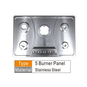 Gas cooker panel components tempered glass or stainless steel