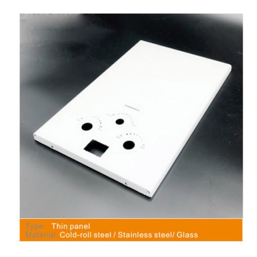 لوحة من سخان المياه الغاز مع مواد مختلفة من الفولاذ المقاوم للصدأ / الطلاء الأبيض / الزجاج