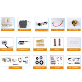 Full range components for gas water heater