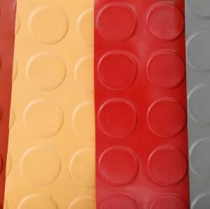 Rutschfeste Gummimatte mit Münzmuster