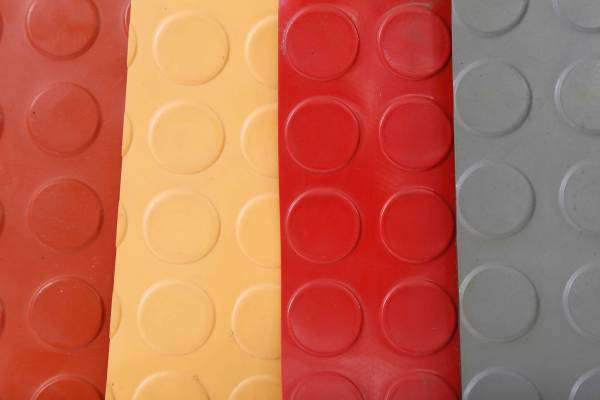 Anti slip flooring coin pattern rubber mat