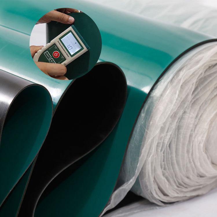 Praktisch zuverlässige Leistung esd Werkbankmatte Antistatische Gummiplattenerkennung