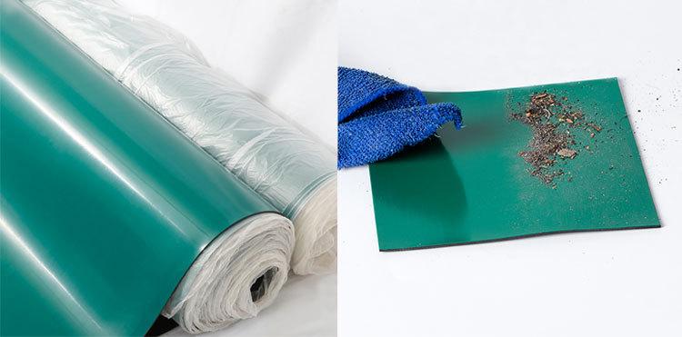 Praktisch zuverlässige Leistung esd Werkbankmatte Die antistatische Gummiplatte ist leicht zu reinigen und zu pflegen
