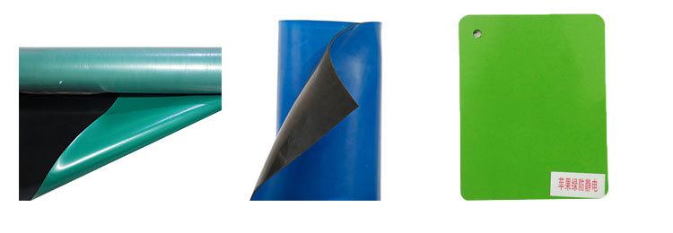 Praktisch zuverlässige Leistung esd Werkbankmatte Antistatische Gummiplattenfarbe