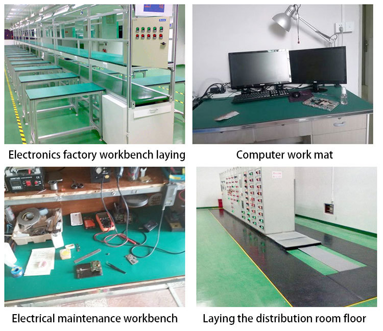 Industry Cleanroom Antistatic workbench apple green esd mat