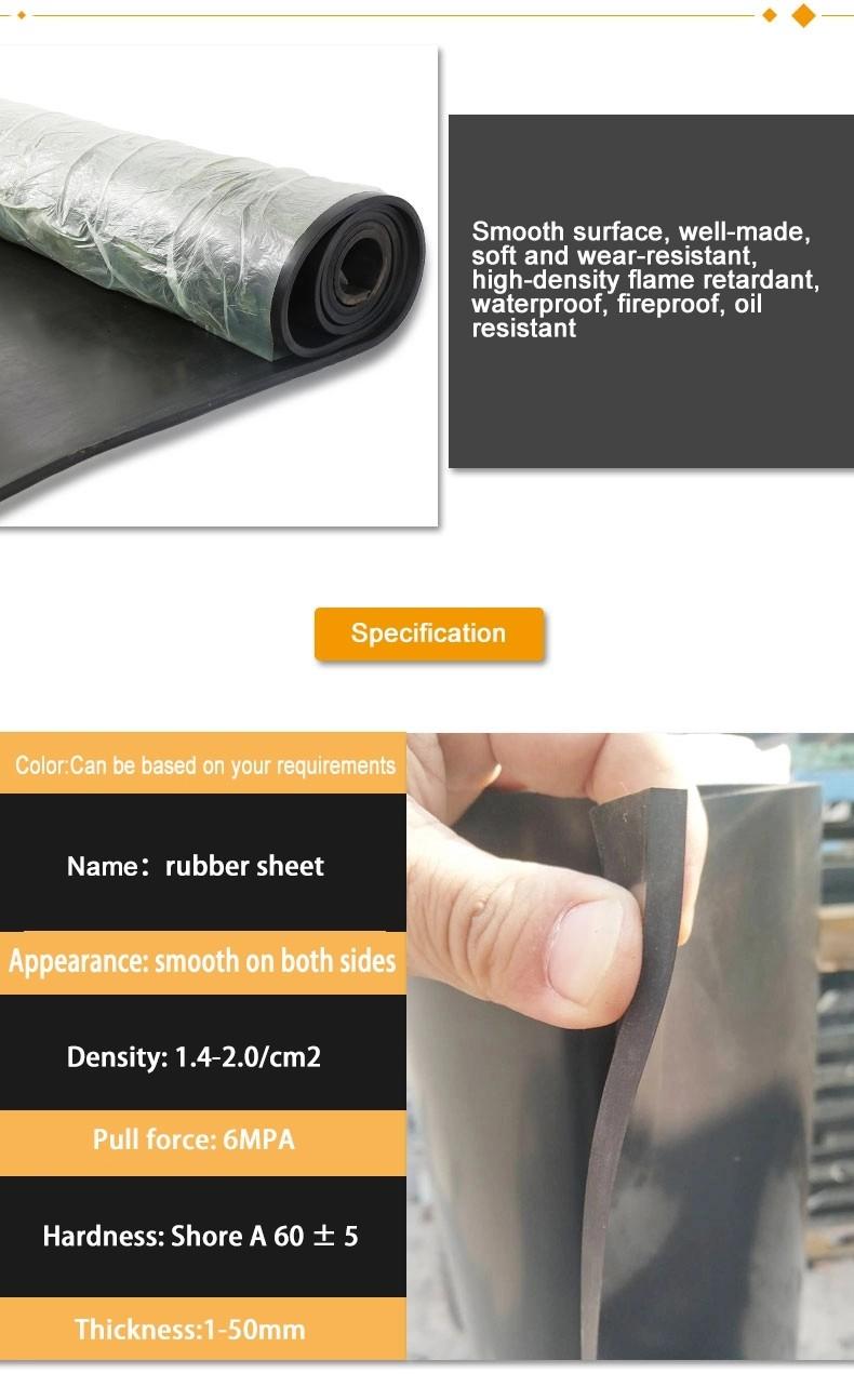 Custom waterproof Shock-proof anti fatigue thin industrial floor mat rubber sheet