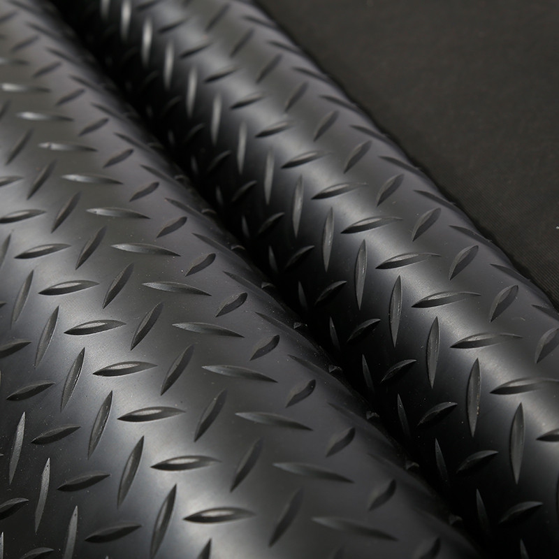 Wholesale non-slip checker plate rubber mating sheets for flooring Checker rubber sheet