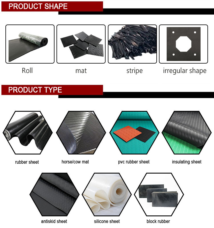 Anti-aging thin colored smooth surface rubber sheet