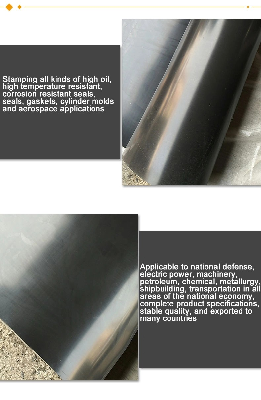 Proveedores de rollos de hoja de material de caucho de neopreno durómetro 60 negro