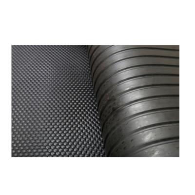 1220mm * 1830mm * 12mm أسود سهلة التنظيف حصيرة مستقرة بقرة مضادة للانزلاق