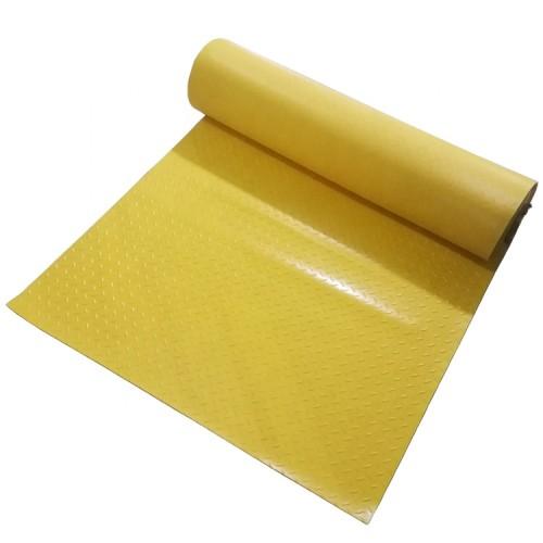 أخضر أسود أصفر جولة مشبك عدم الانزلاق ورقة من البلاستيك والمطاط البلاستيكية حصيرة