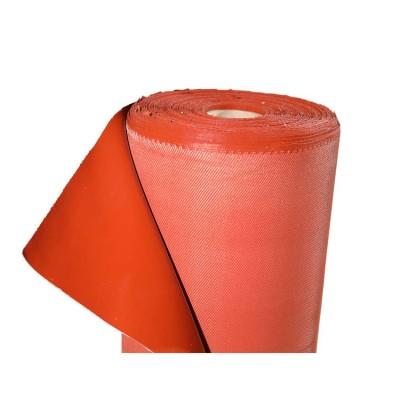 Tissu ignifuge d'isolation rouge de protection de gel de silice rouge chinois à hautes températures