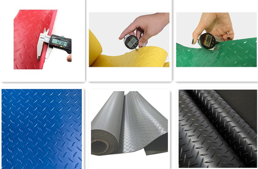odourless blue Color pvc Diamond indoors plastic anti-skid rubber sheet