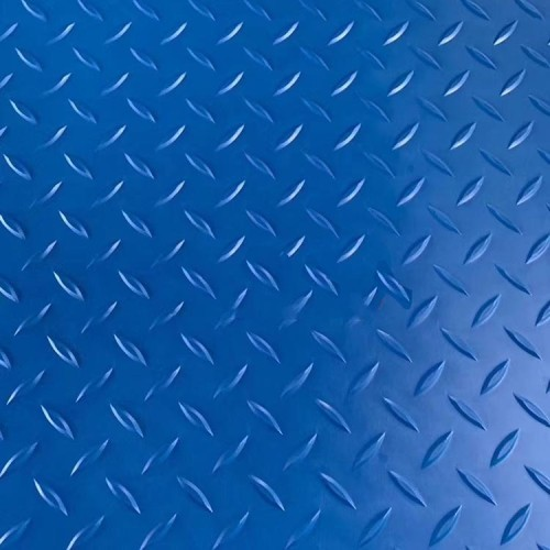 عديم اللون الأزرق اللون pvc الماس في الداخل ورقة من المطاط المضادة للانزلاق
