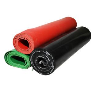 Auf den Boden legen schwarz rot grün Gummibodenmatte