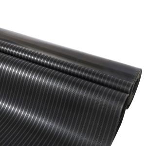 breit fein gerippt matt schwarz