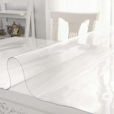Wasserdicht kristall platte klar weichglas pvc transparent tischdecke
