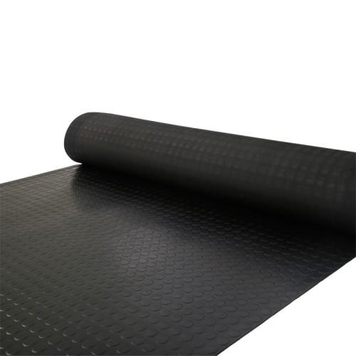 أسود 3MM - 8MM الحصير المطاط المضادة للانزلاق مع حجم قياسي في الأوراق المالية