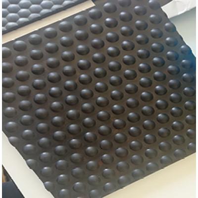 Tapis en caoutchouc de vache de couleur noire 1220mm * 1830mm * 17mm / tapis stable de cheval