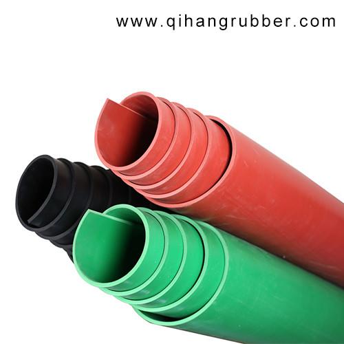 Pièce de générateur / atelier d'opération / salle de distribution utiliser une feuille de caoutchouc d'isolation colorée 5-35kv