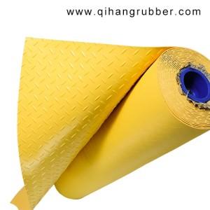 3 ملليمتر الأصفر مقاومة للأشعة فوق البنفسجية الماس المضادة للانزلاق البلاستيك ورقة pvc حصيرة الأرضيات