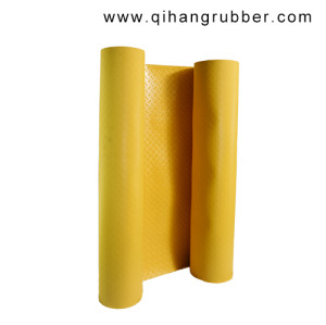 3mm Yellow diamond uv resistance anti-slip plastic sheet pvc flooring matting