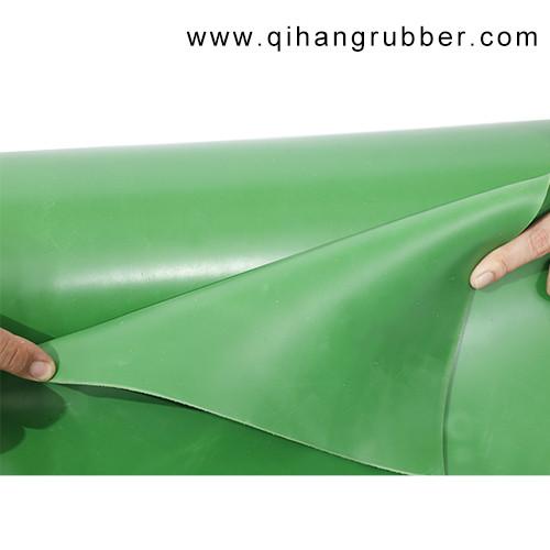Resistencia al desgaste a prueba de agua de 2 mm de espesor de hoja de goma verde