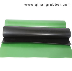 wholesale industrial non slip outdoor rubber floor covering plain rubber sheet