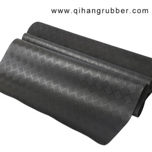 Black 3mm - 8mm Anti slip rubber floor mats with standard size in stock