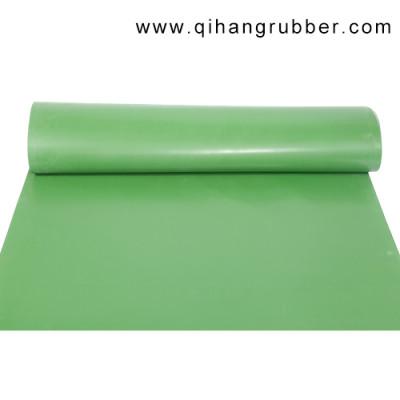 Resistencia al desgaste a prueba de agua 2 mm de espesor de hoja de goma verde