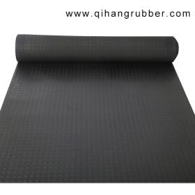 schwarze rutschfeste runde Stollengummimattenrolle